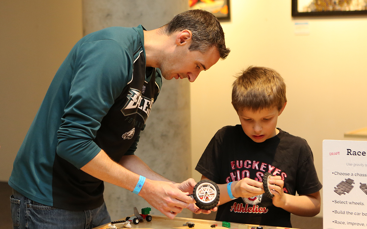 Father's Day weekend at Great Lakes Science Center is packed with LEGOs, movies, half-price admission for dads